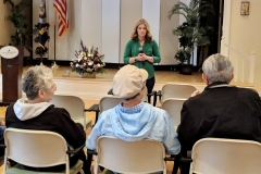 April 22, 2019: Senator Muth hosted coffee with Katie at Meadowood Senior Living Center in Worcester yesterday. She & the residents discussed issues such as what she's been working on in Harrisburg, Real ID, & recent updates made to Voting Machines.