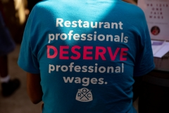 September 3, 2019: Elected officials work as servers for an hour to highlight the need for One Fair Wage.