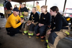 September 4, 2019: Senators get a taste of first responder training with the Pittsburgh firefighters.