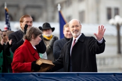 January 15, 2019 - Gov. Wolf and Lt. Gov. Fetterman are sworn into office in Harrisburg.